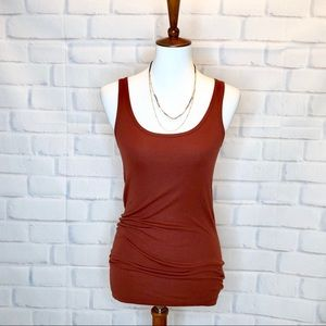 Vince. Stretch Brown Tank Top